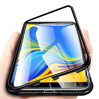 Недорогие Чехлы и кейсы для Galaxy Note-магнитный чехол для samsung galaxy note 10 plus / m10 (2019) / j6 plus 360-градусный телефон из закаленного стекла с металлической металлической крышкой Fundas чехлы для магнитов для samsung m20 / m30
