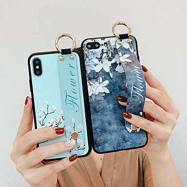 baratos Capinhas para iPhone-Capinha Para Apple iPhone X / iPhone 8 Plus / iPhone 8 Antichoque Capa traseira Palavra / Frase / Animal Macia TPU / PC