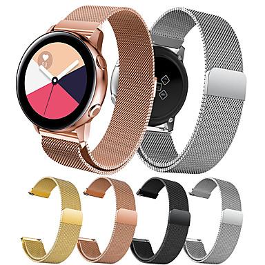 voordelige Horlogebandjes voor Samsung-Horlogeband voor Gear Sport / Gear S2 Classic / Samsung Galaxy Active Samsung Galaxy Sportband / Milanese lus Metaal / Roestvrij staal Polsband