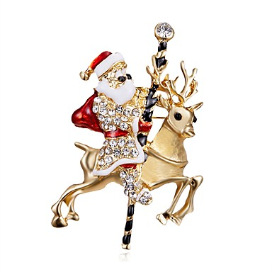 povoljno Broševi-Muškarci Žene Broševi Kostimi Djeda Mraza Imitacija dijamanta Broš Jewelry Zlato Za Festival
