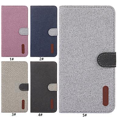 voordelige Huawei Y-serie hoesjes / covers-hoesje Voor Huawei Huawei Honor 9 Lite / Huawei Honor 8X / Honor 7A Kaarthouder / met standaard / Flip Volledig hoesje Effen Hard tekstiili