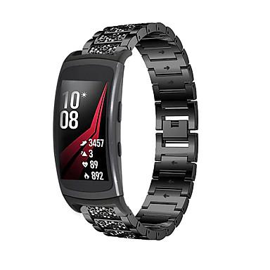 Недорогие Часы для Samsung-ремешок из нержавеющей стали для samsung galaxy fit sm-r370 samsung galaxy женщины браслет с бриллиантами