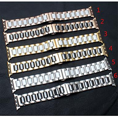 Недорогие Аксессуары для смарт-часов-для яблочных часов серии 4/3/2/1 ремешок ремешок браслет из нержавеющей стали керамика