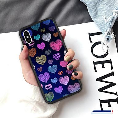 voordelige iPhone 5 hoesjes-hoesje voor iphone xs max xr xs x achterkant van de behuizing zachte cover tpu verse stijl creatief patroon liefde zachte tpu voor iphone 8 plus 7 plus 7 6 plus 6 8