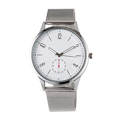 baratos Aço Inoxidável-Homens Relógios de aço Quartzo Casual Relógio Casual Analógico Preto Dourado Prata / Um ano / Jinli 377