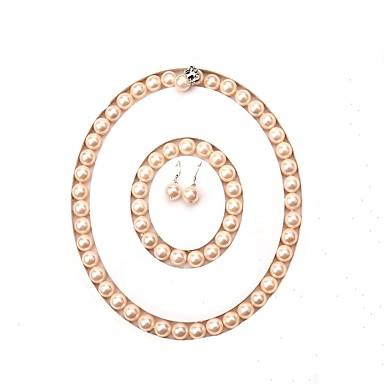 povoljno Trake i žice-slatkovodni biser klasični nakit set - biser blagoslovljen jednostavan stil, moda, luksuz ružičasta za događaj / party party ženske