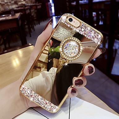 voordelige Galaxy S-serie hoesjes / covers-hoesje Voor Samsung Galaxy S9 / S9 Plus / S8 Plus Strass / met standaard Achterkant Glitterglans Hard Acryl