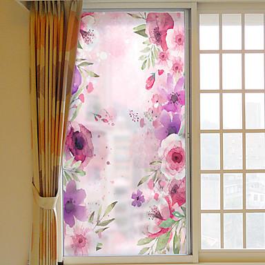 حلم زهرة القابلة للإزالة فيلم النافذة البلاستيكية&ampamp، ampamp، حلية، الزخرفة، هندسي