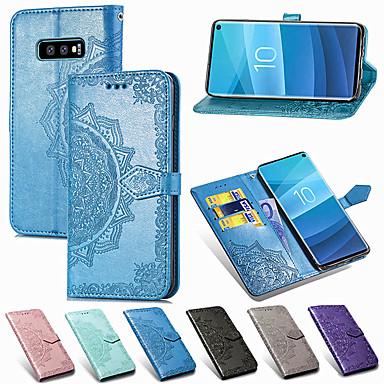 Недорогие Чехлы и кейсы для Galaxy S-Кейс для Назначение SSamsung Galaxy S9 / S9 Plus / S8 Plus Кошелек / Бумажник для карт / Флип Чехол Цветы Твердый Кожа PU / ТПУ