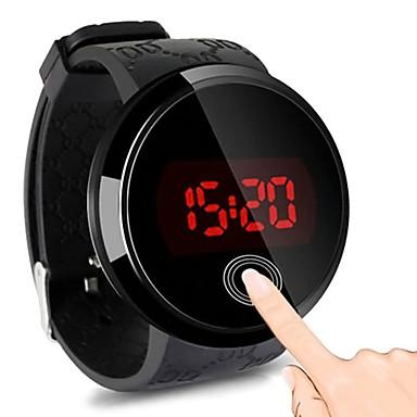 رخيصةأون ساعات الرجال-رجالي ساعة رقمية رقمي مطاط أسود 30 m مقاوم للماء شاشة لمس ساعة كاجوال رقمي LED موضة - أسود سنة واحدة عمر البطارية / ستانلس ستيل