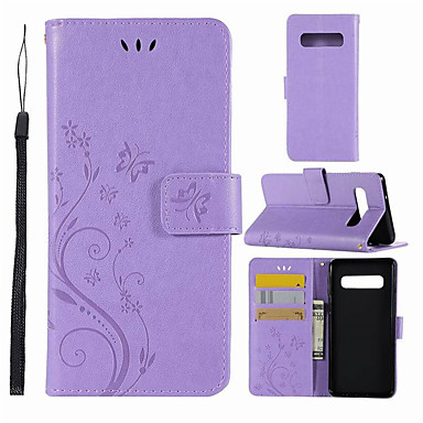 Недорогие Чехлы и кейсы для Galaxy S-Кейс для Назначение SSamsung Galaxy S9 / S9 Plus / S8 Plus Кошелек / Бумажник для карт / Флип Чехол Бабочка Твердый Кожа PU