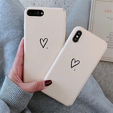Недорогие Кейсы для iPhone 7-чехол для яблока iphone xr / iphone xs max шаблон задняя крышка сердце жесткий пк для мягкого тпу для iphone x xs 8 8plus 7 7plus 6 6s 6plus 6s plus
