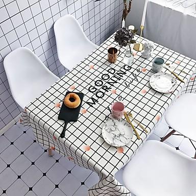معاصر كاجوال قطن ألياف البوليستر مربع قماش الطاولة منقوشة عطلة طبع صديقة للبيئة مقاوم للماء الجدول ديكورات