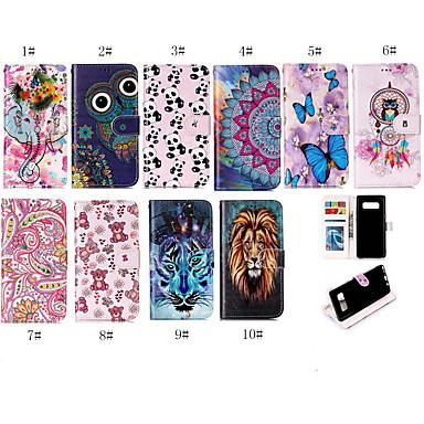 voordelige Galaxy Note-serie hoesjes / covers-case voor Samsung Galaxy note 8 / note 9 portemonnee / kaarthouder full body cases animal / cartoon soft tpu / pu leather voor note 8 / note 9