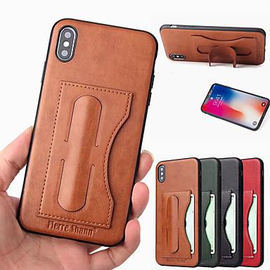 Недорогие Кейсы для iPhone-Чехол Fierre Shann для Apple Iphone XR XS Max с подставкой для подставки Задняя крышка сплошная твердая искусственная кожа XS X 8 8 плюс 7 7 плюс 6 6 плюс 6s 6s plus