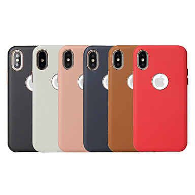 Недорогие Кейсы для iPhone X-чехол для яблока iphone xr / iphone xs max матовая задняя крышка сплошной цвет мягкий пу для iphone x xs 8 8plus 7 7plus 6 6s 6plus 6s plus