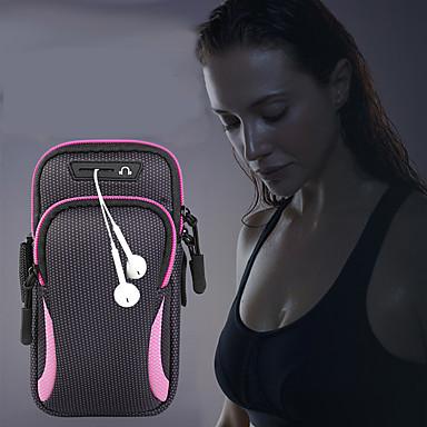 Недорогие Универсальные чехлы и сумочки-унисекс сумка сумка рука сумка спортивная сумка для бега тренажерный зал рука с держателем сумка для мобильного телефона гарнитура сумка водонепроницаемый 6,4 дюйма