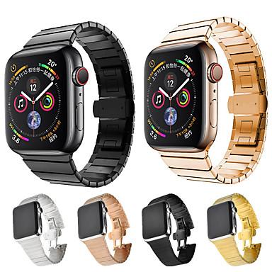 voordelige Smartwatch-accessoires-Horlogeband voor Apple Watch Series 5/4/3/2/1 Apple Butterfly Buckle Roestvrij staal Polsband