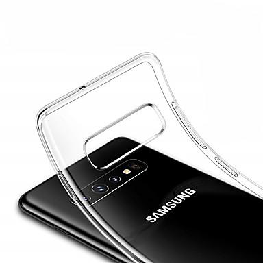 Недорогие Чехлы и кейсы для Galaxy S-Кейс для Назначение SSamsung Galaxy S9 / S9 Plus / S8 Plus Прозрачный Кейс на заднюю панель Прозрачный Мягкий ТПУ