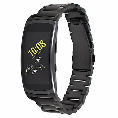Недорогие Часы для Samsung-Ремешок для часов для Gear Fit 2 Samsung Galaxy Современная застежка Металл / Нержавеющая сталь Повязка на запястье