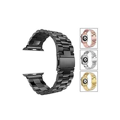 Недорогие Аксессуары для смарт-часов-Ремешок для часов для Серия Apple Watch 5/4/3/2/1 Apple Спортивный ремешок Нержавеющая сталь Повязка на запястье