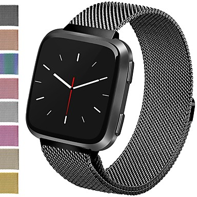 cheap Smartwatch Accessories-Watch Band for Fitbit Versa Fitbit Milanese Loop Stainless Steel Wrist Strap