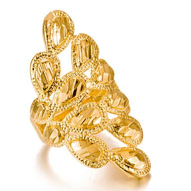 رخيصةأون خواتم-نسائي خاتم خاتم قابل للتعديل 1PC ذهبي نحاس غير منتظم ترف كلاسيكي شائع عيد الميلاد مناسب للحفلات مجوهرات الطاووس جميل محبوب / المتضخم
