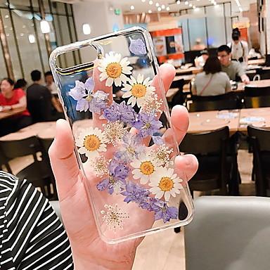 Недорогие Кейсы для iPhone 7 Plus-Кейс для Назначение Apple iPhone XR / iPhone XS Max / iPhone X Прозрачный / С узором Кейс на заднюю панель Прозрачный / Цветы Мягкий Силикон