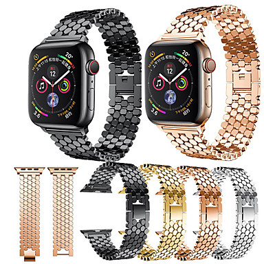 povoljno Apple Watch remeni-Pogledajte Band za Apple Watch Series 4/3/2/1 Apple Leptir Buckle Nehrđajući čelik Traka za ruku