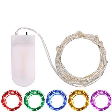 3M Žice sa svjetlima 30 LED diode SMD 0603 Toplo bijelo / Bijela / Više boja Vodootporno / Party / Ukrasno Baterije su pogonjene 1pc