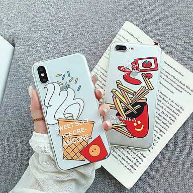 voordelige iPhone-hoesjes-hoesje Voor Apple iPhone XS / iPhone XR / iPhone XS Max Transparant / Patroon Achterkant Transparant / Cartoon Zacht TPU / PC
