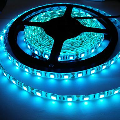 رخيصةأون شرائط ضوء مرنة LED-5050 smd الجليد الأزرق العاصمة 12 فولت 300 المصابيح / بكرة غير ماء 5 متر / بكرة