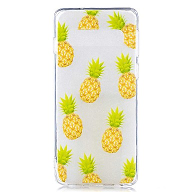 voordelige Galaxy S-serie hoesjes / covers-hoesje Voor Samsung Galaxy S9 / S9 Plus / S8 Plus Transparant / Patroon Achterkant Voedsel Zacht TPU