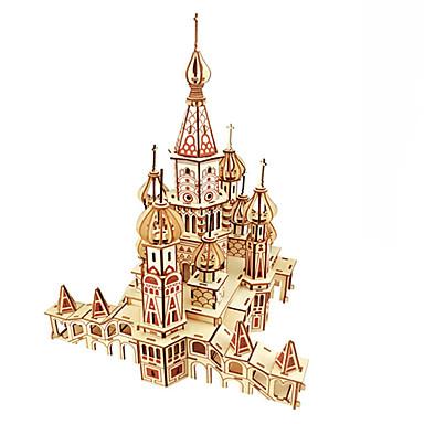 olcso 3D Puzzle-Fából készült építőjátékok Logikai játékok, fejtörők Építészet Népszerű épület Templom Kézzel készített Szülő-gyermek interakció Fa 1 pcs Gyermek Felnőttek Összes Játékok Ajándék