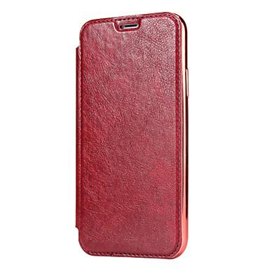 Недорогие Кейсы для iPhone X-Кейс для Назначение Apple iPhone XS / iPhone XR / iPhone XS Max Бумажник для карт Кейс на заднюю панель Однотонный Твердый Настоящая кожа