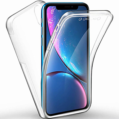 voordelige iPhone 6 Plus hoesjes-hoesje voor apple iphone xs max / iphone x transparant / frosted full body cases transparant hard pc / tpu voor iphone 6 / iphone 6 plus / iphone 6s / 6splus / 7/8 / 7plus / 8plus / xs / xr
