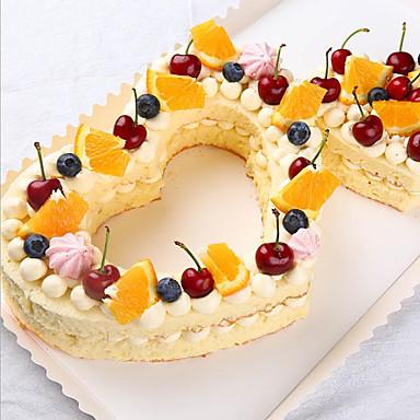 رخيصةأون أدوات الفرن-مل 3pcs بلاستيك عيد الحب كعكة قوالب الكيك أدوات خبز