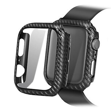 voordelige Smartwatch-hoezen-ultradunne koolstofvezellijnen pc-behuizing beschermframe voor Apple Watch-serie 4 3 2 1