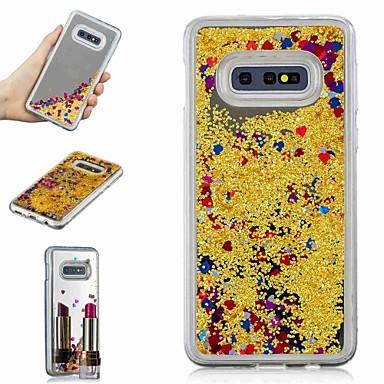 Недорогие Чехлы и кейсы для Galaxy S-Кейс для Назначение SSamsung Galaxy S9 / S9 Plus / S8 Plus Защита от удара / Движущаяся жидкость / Зеркальная поверхность Кейс на заднюю панель Сияние и блеск / Градиент цвета Твердый ТПУ