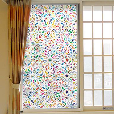 فيلم نافذة وملصقات زخرفة معاصر هندسي PVC ملصق النافذة / ضد الانعكاس