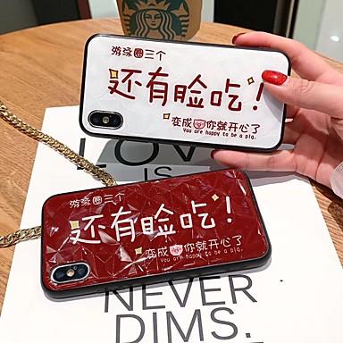 Недорогие Кейсы для iPhone 6 Plus-Кейс для Назначение Apple iPhone XS / iPhone XR / iPhone XS Max С узором Кейс на заднюю панель Мультипликация Твердый Закаленное стекло