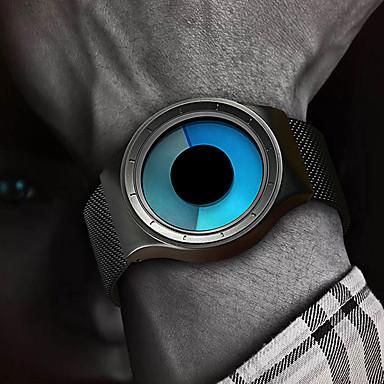 Недорогие Часы на металлическом ремешке-Муж. электронные часы Цифровой Блестящие Защита от влаги Аналоговый Черный Серебряный / Один год / Нержавеющая сталь