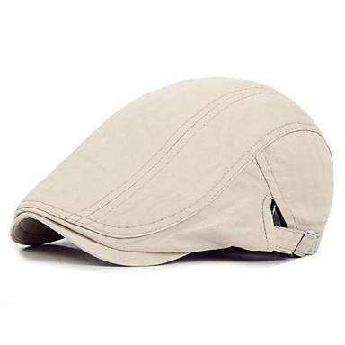 رخيصةأون قبعات الرجال-كل الفصول البيج رمادي كاكي قبعة مرنة لون سادة للجنسين قطن كتان,الثلاثينات