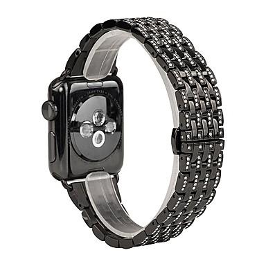 billiga Tillbehör till mobilen-Klockarmband för Apple Watch Series 5/4/3/2/1 Apple Smyckesdesign Rostfritt stål Handledsrem
