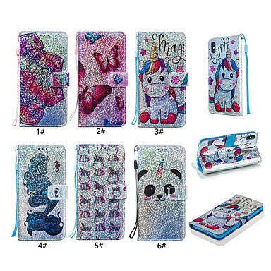 Недорогие Чехлы и кейсы для Xiaomi-чехол для xiaomi xiaomi redmi note 7 блеск блеск / рисунок / флип чехлы для всего тела / задняя крышка животное / цветок / бабочка твердая кожа pu для redmi note 7 / xiaomi mi 6 / redmi 6a