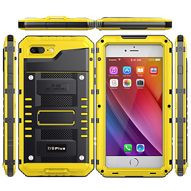voordelige iPhone-hoesjes-hoesje Voor Apple iPhone XS / iPhone XR / iPhone XS Max Waterbestendig / Schokbestendig Achterkant Effen Hard Metaal
