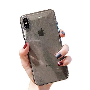 voordelige iPhone 6 Plus hoesjes-hoesje voor apple iphone xr / iphone xs max glitter shine / transparent achterkant effen gekleurde zachte tpu voor iphone x xs 8 8plus 7 7 plus 6 6 plus 6s 6s plus