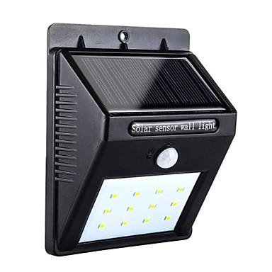 olcso Személyes védelem-1db 4 W Napfényes napfény Mozgásérzékelő monitor Hideg fehér 3.7 V Kültéri világítás / Udvar / Kert 12 LED gyöngyök