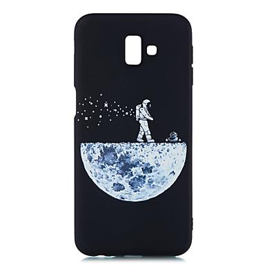 olcso Egyéb tokok Samsung készülékekhez-Case Kompatibilitás Samsung Galaxy J8 (2018) / J7 Prime / J7 (2017) Jeges / Minta Fekete tok Látvány Puha TPU
