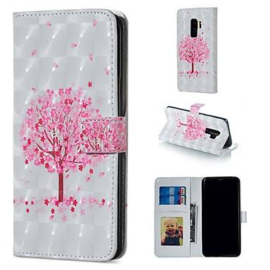 Недорогие Чехлы и кейсы для Galaxy S-Кейс для Назначение SSamsung Galaxy S9 / S9 Plus / S8 Plus Кошелек / Бумажник для карт / со стендом Чехол дерево Твердый Кожа PU